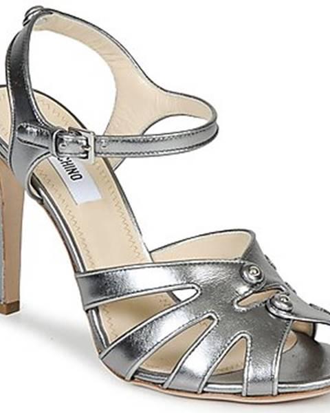 Strieborné sandále Moschino