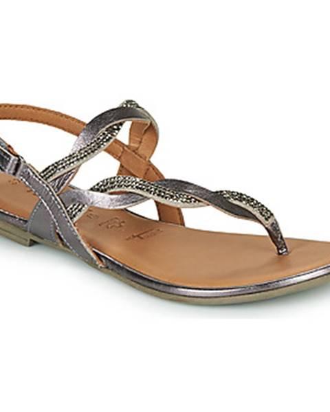 Strieborné sandále Tamaris