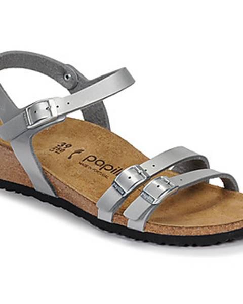 Strieborné sandále Papillio