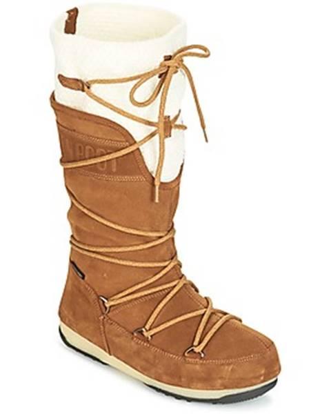 Hnedé topánky Moon Boot