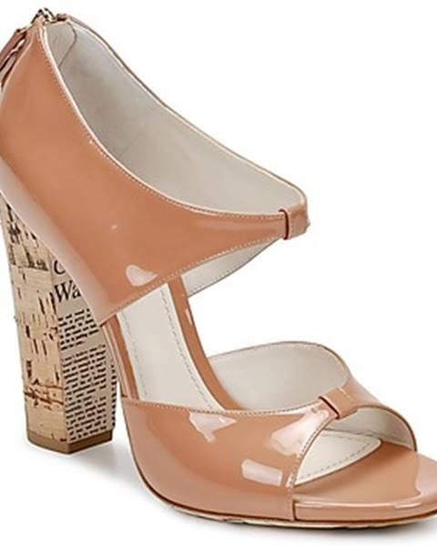 Hnedé sandále John Galliano