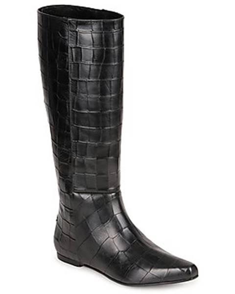 Čierne čižmy Roberto Cavalli