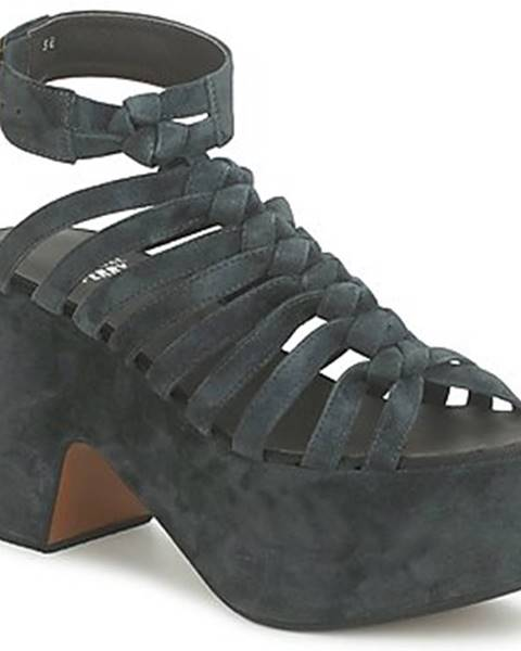 Čierne sandále Michel Perry