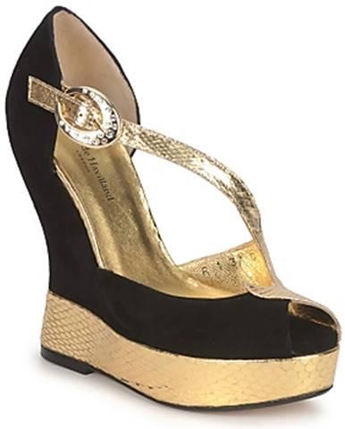 Čierne sandále Terry de Havilland