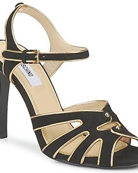 Čierne sandále Moschino