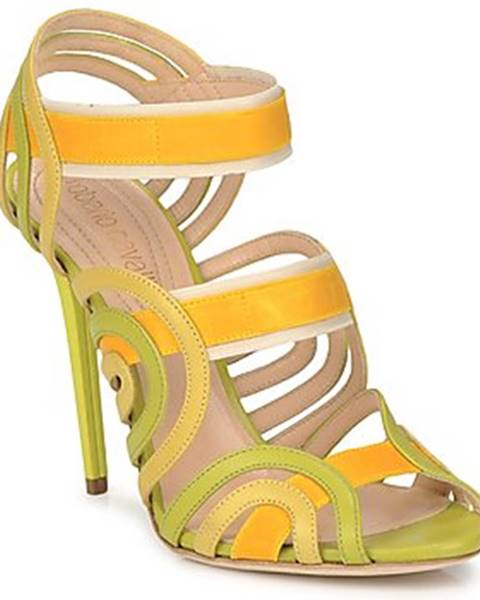 Žlté sandále Roberto Cavalli