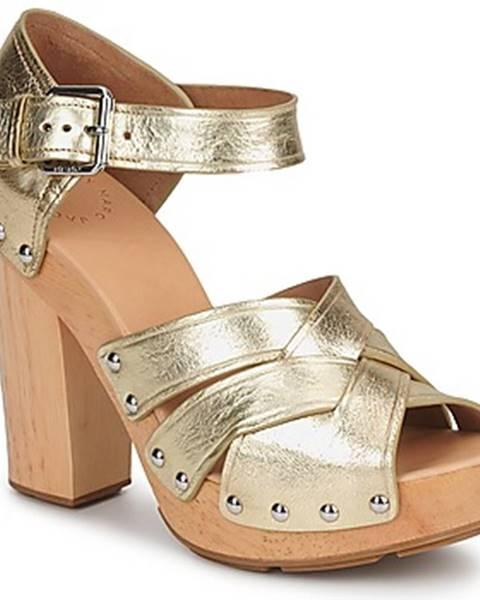 Zlaté sandále Marc by Marc Jacobs