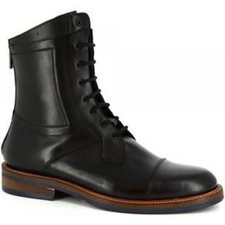 Polokozačky Leonardo Shoes  406-16 VITELLO NERO