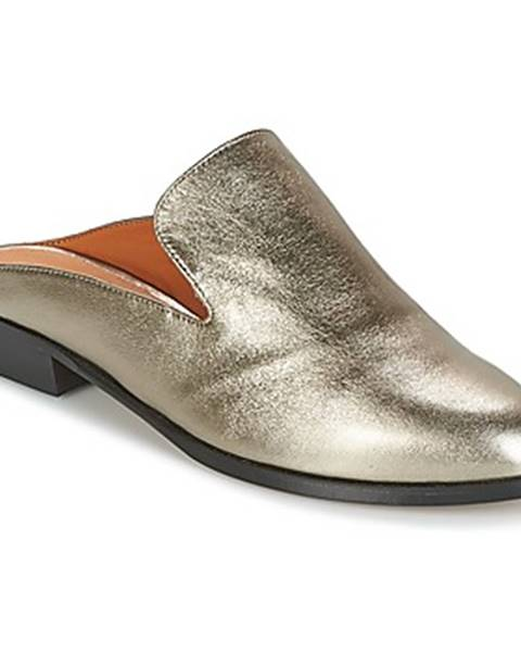 Strieborné topánky Robert Clergerie