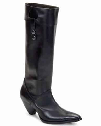 Čierne čižmy Stephane Gontard