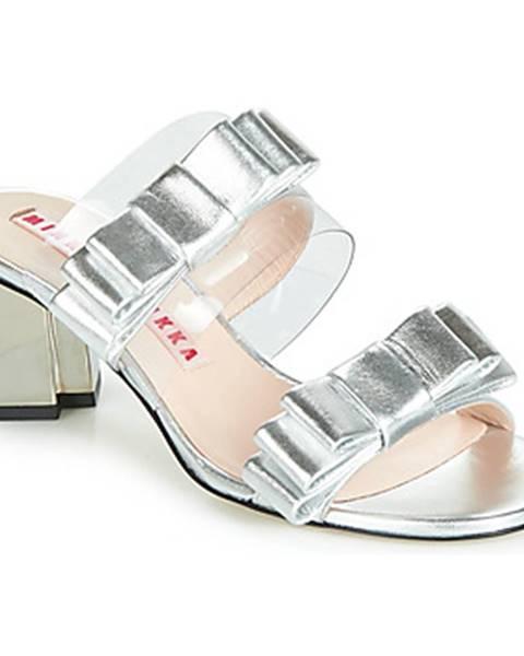 Strieborné sandále Minna Parikka