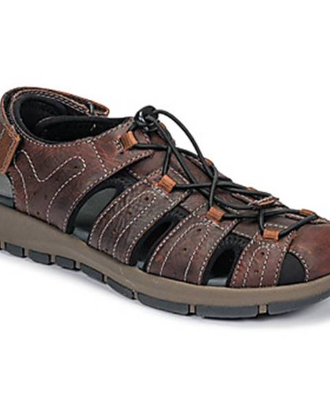 Hnedé športové sandále Clarks