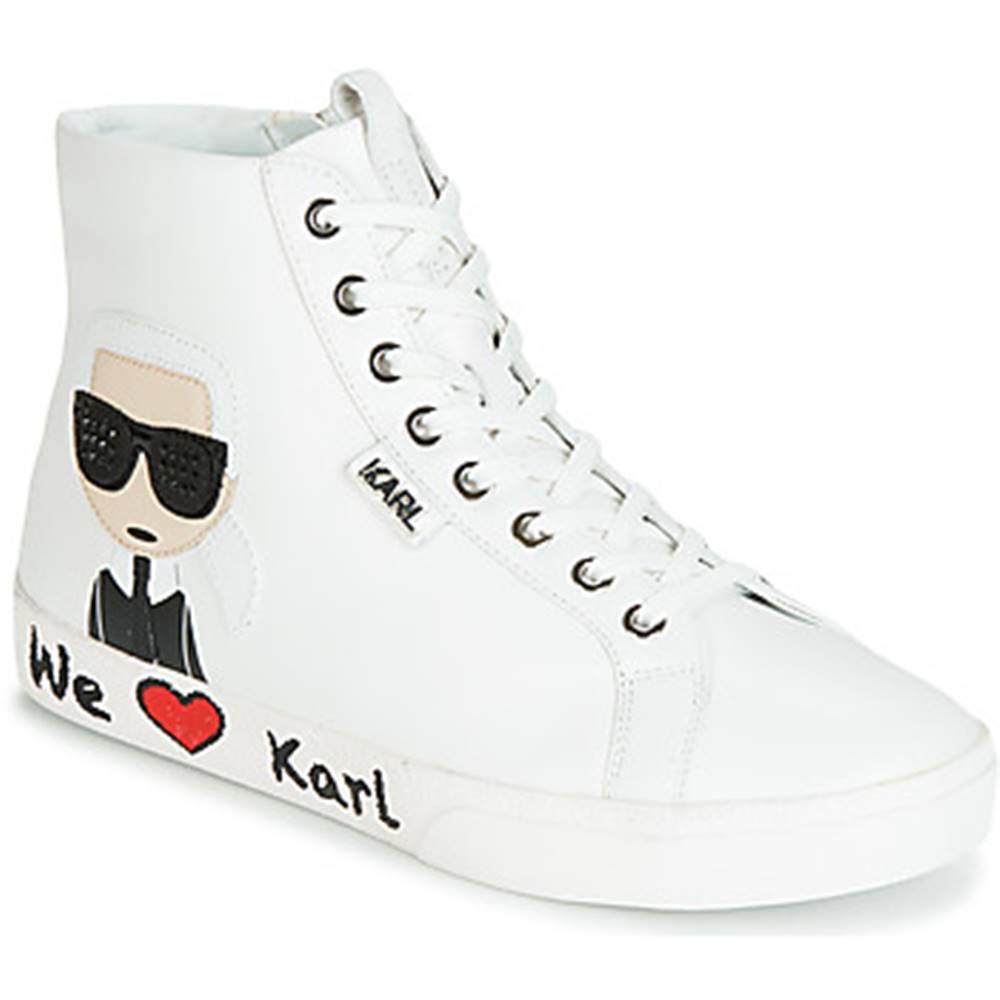 Karl Lagerfeld Členkové tenisky Karl Lagerfeld  SKOOL KARL IKONIC HI LACE