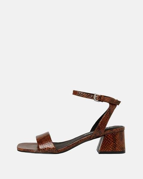 Hnedé topánky Vero Moda