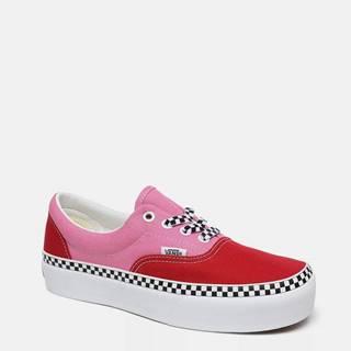 Červeno-ružové dámske tenisky VANS