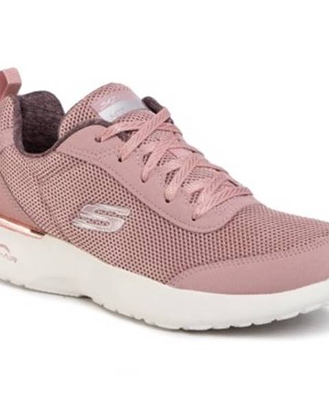 Svetloružové topánky Skechers