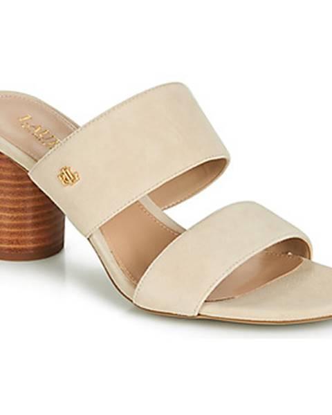 Béžové topánky Lauren Ralph Lauren