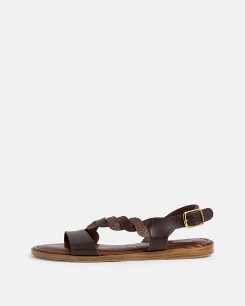 Tmavohnedé sandále Tamaris