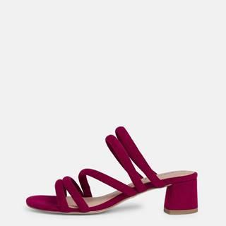 Vínové sandálky v semišovej úprave Tamaris