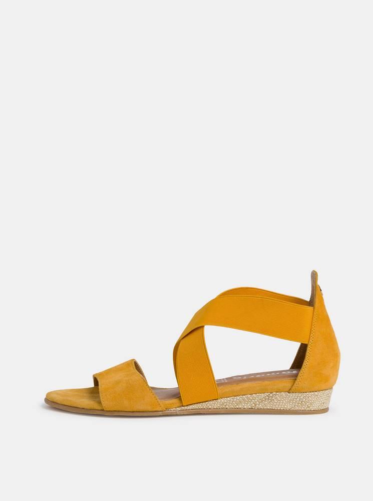 Tamaris Žlté semišové sandálky Tamaris