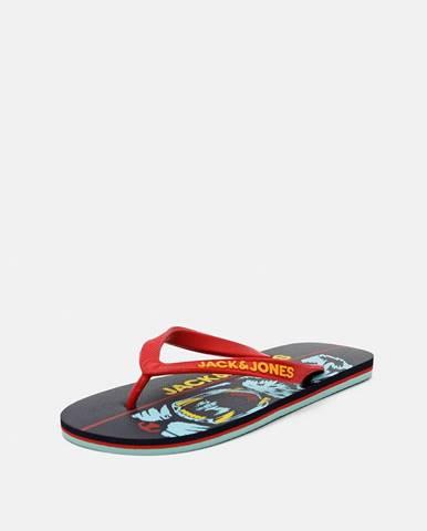 Červené sandále Jack & Jones