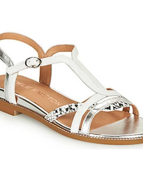 Biele sandále Karston