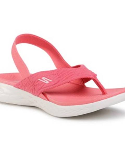 Ružové sandále Skechers