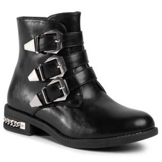 Členkové topánky DeeZee WS5168-02 koža ekologická