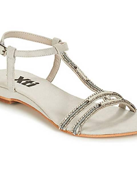 Strieborné sandále Xti