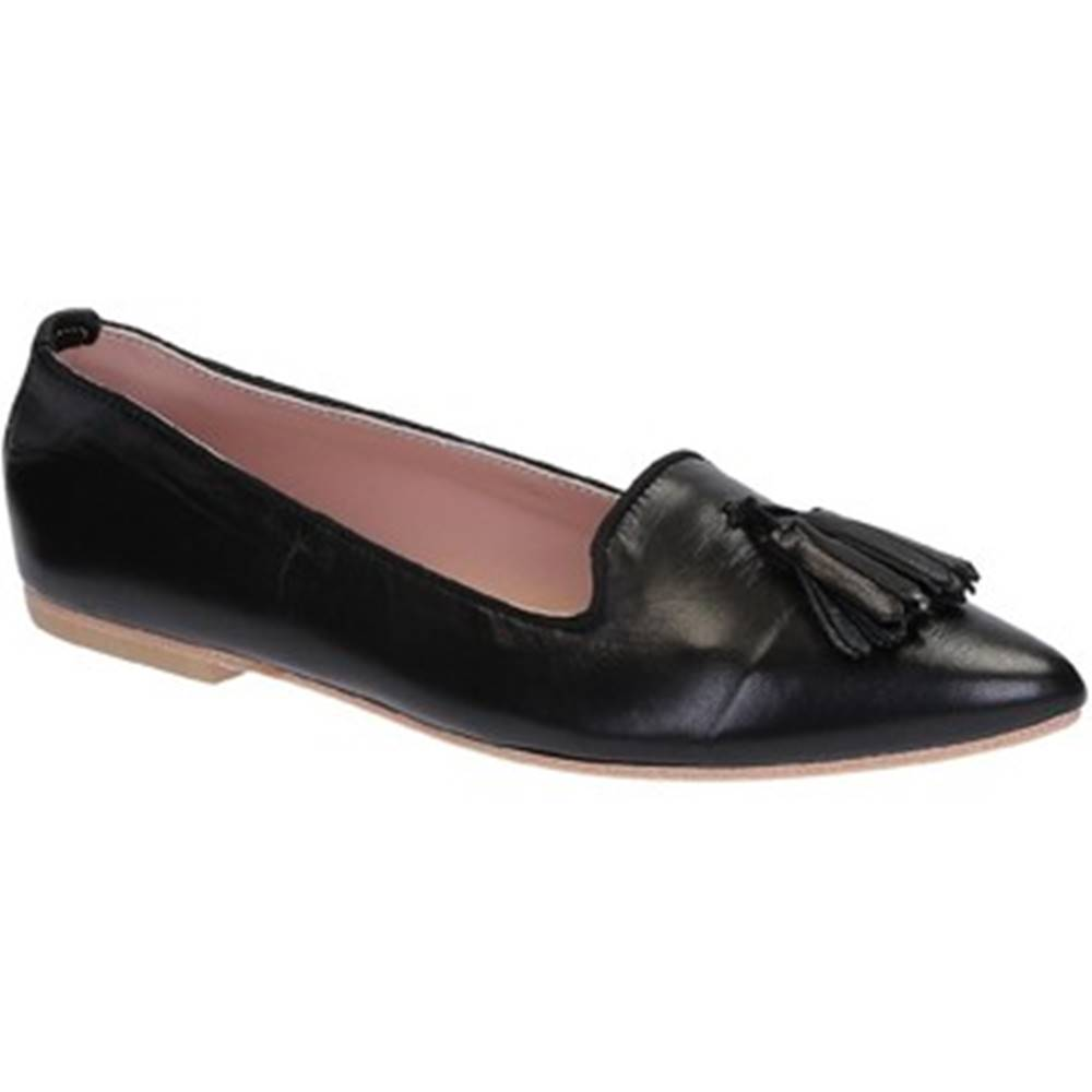 Leonardo Shoes Balerínky/Babies Leonardo Shoes  117-20 CUOIO NAPPA NERO