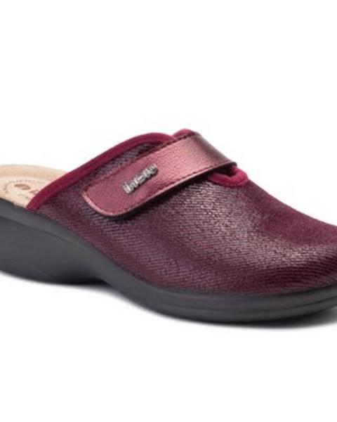 Bordové papuče INBLU